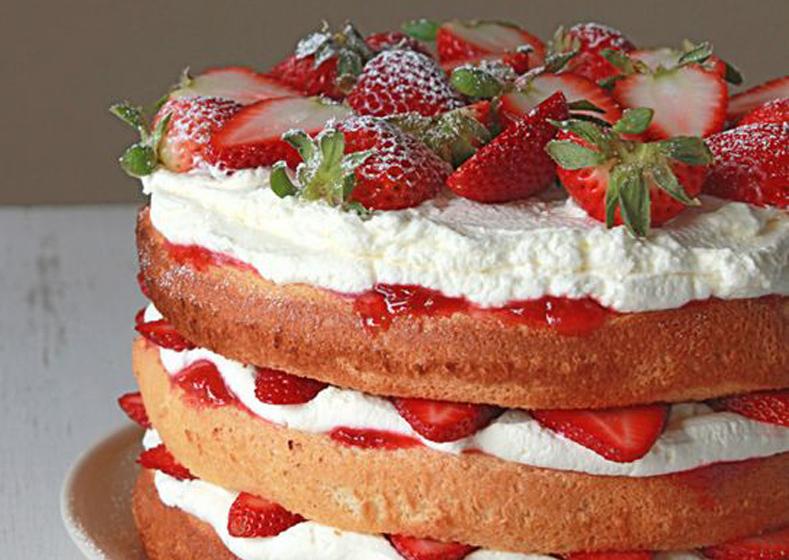 WILD Strawberry & Cream Cake